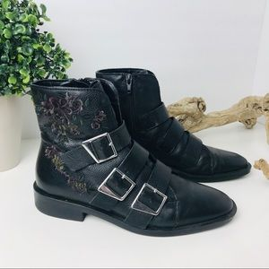 Zara Shoes - Zara | buckle floral leather boots